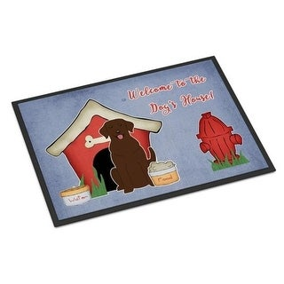 Carolines Treasures BB2810JMAT Dog House Collection Chocolate Labrador Indoor or Outdoor Mat 24 x 0.25 x 36 in.