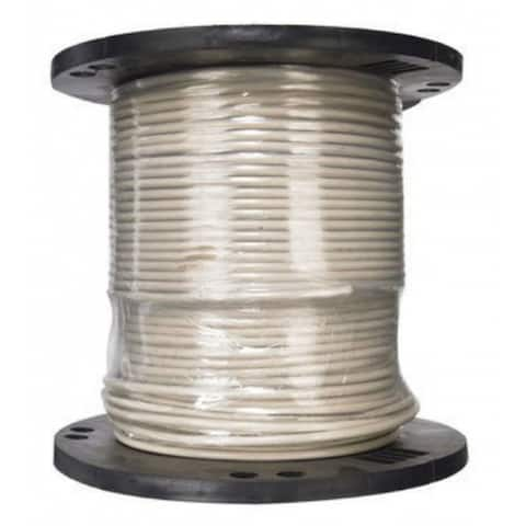 Southwire 20494101 Type THHN 6 Stranded Building Wire, White, 500'