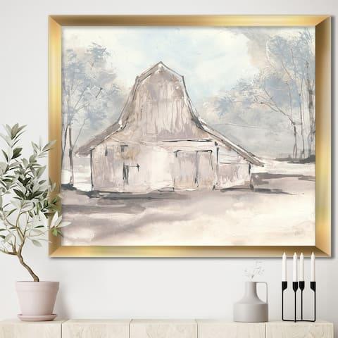 Designart 'Farmhouse Barn Grey VI' Modern Farmhouse Framed Art Print