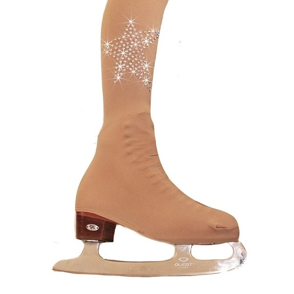 435264624ad2e Ice Fire Skating Adult Nude Over The Boot Rhinestone Stars Tights Women