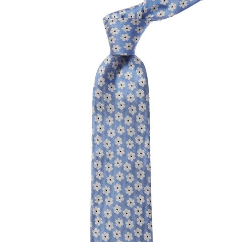 Bonobos Airy Blue Baywater Floral Silk Tie - os