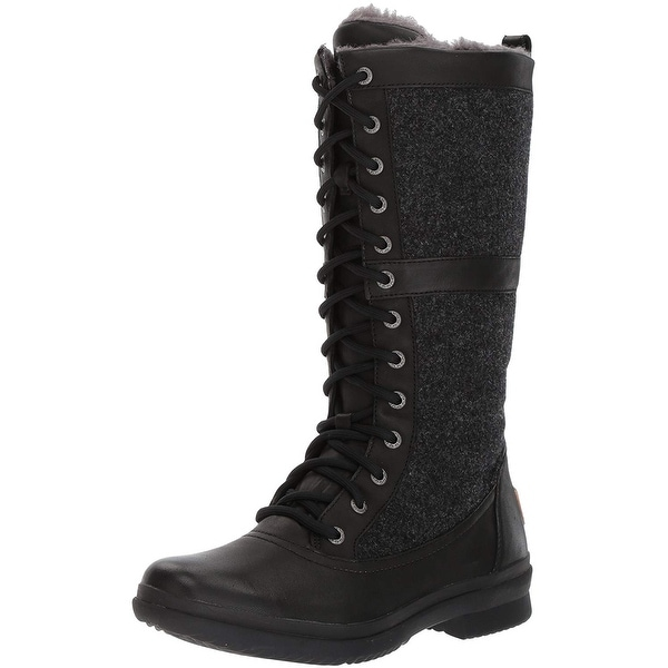 bfc8b4c61f3 Shop Ugg Womens Elvia Leather Round Toe Mid-Calf Cold Weather Boots ...