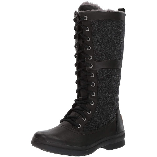 reasonably priced meet well known Shop Ugg Womens Elvia Leather Round Toe Mid-Calf Cold ...