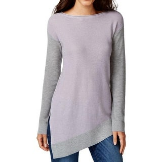 Vince Camuto Womens Modern Edge Pullover Sweater Colorblock Asymmetic