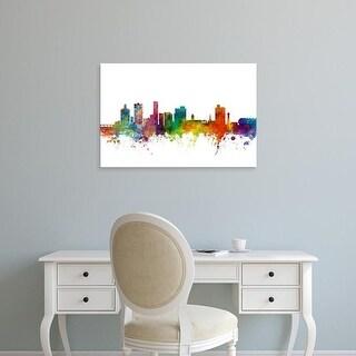 Easy Art Prints Michael Tompsett's 'Port Elizabeth South Africa Skyline' Premium Canvas Art