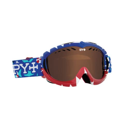 Spy Optic 310775654069 Targa Snow Ski Goggles Mini Party Sharks Bronze - Blue - One Size
