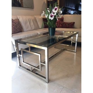 Attrayant Shop Silver Orchid Parker Satin Nickel Coffee Table   Free Shipping Today    Overstock.com   20470255