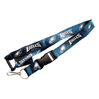 NFL Lanyard Keychain Batch Id Holder Philadelphia Eagles - Green