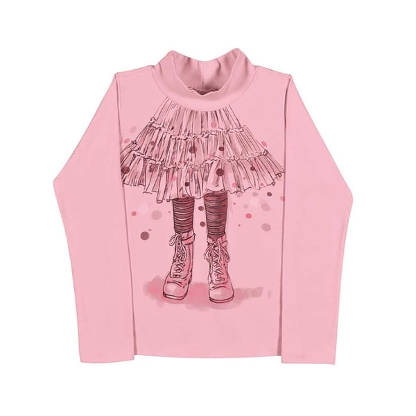 Girls Long Sleeve T-Shirt Turtleneck Shirt Kids Pulla Bulla Sizes 2-10 Years