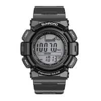 Sunroad FR715A Men Fishing Barometer Watch, Black