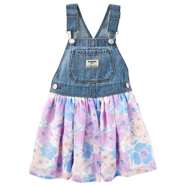 ca0bbeca7813 Shop OshKosh B gosh Baby Girls  Floral Denim Jumper