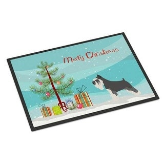 Carolines Treasures BB8460JMAT Miniature Schnauzer Christmas Indoor or Outdoor Mat 24 x 36 in.