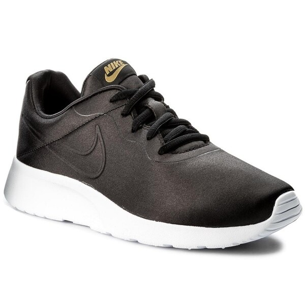 Nike Womens Tanjun Prem Fabric Low Top Lace Up, Black/metallic Gold, Size 11.0 - 11