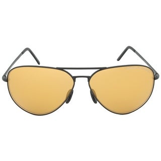 Porsche Design Design P8508I Aviator Sunglasses | Black Frame | Orange Mirrored Lens - 62mm x 12mm x 140mm