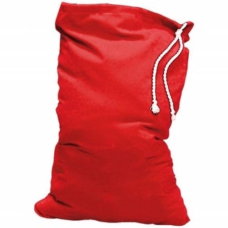 Red Plush Santa Claus Toy Bag with Drawstring  One Size