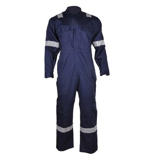 Walls Fr-Industries Mens Navy Reflector Coveralls For Work Wear 60 Regular