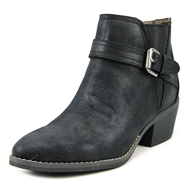 White Mountain Womens Hadley Fabric Almond Toe Ankle Fashion Boots