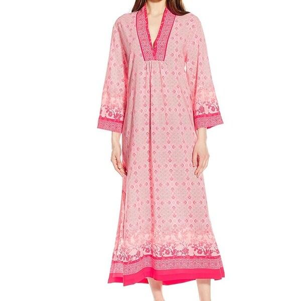 Shop Oscar de la Renta Pink Label NEW Pink Womens XL Printed Gown ...