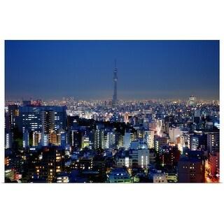 """Tokyo skyline"" Poster Print"