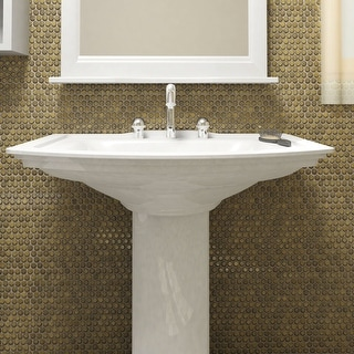 SomerTile 12x12.625-inch Penny Brownstone Porcelain Mosaic Floor and Wall Tile (10 tiles/10.74 sqft.)