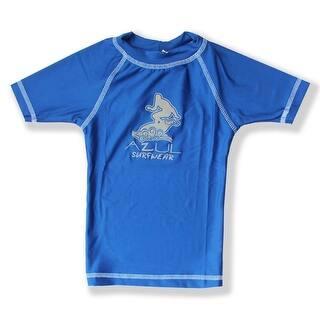 Azul Boys Royal Blue Short Sleeve Solid UPF 50+ Rash Guard|https://ak1.ostkcdn.com/images/products/is/images/direct/11b42eade479956e6bab64461d8c60290462f9e8/Azul-Big-Boys-Royal-Blue-Short-Sleeve-Solid-UPF-50%2B-Rash-Guard-8-14.jpg?impolicy=medium