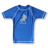 Azul Boys Royal Blue Short Sleeve Solid UPF 50+ Rash Guard