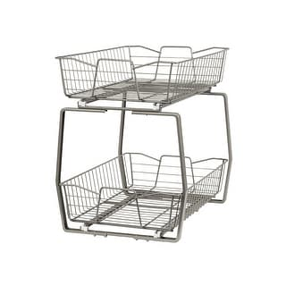 Link to ClosetMaid Two Tier Nickel Pull Out Cabinet Organizer Similar Items in Storage & Organization