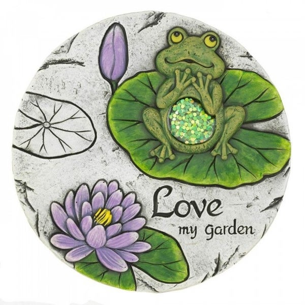 Set of 2 Leaping Frog Garden Stones