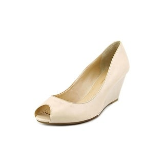 Marc Fisher Sancha 4 Women  Open Toe Leather Tan Wedge Heel