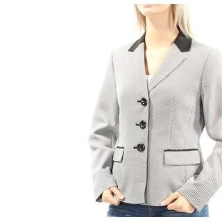 Womens White Wear To Work Blazer Jacket Size 4