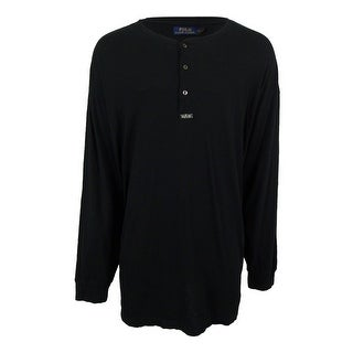 Polo Ralph Lauren Men's Solid-Colored Henley Shirt (4XLT, Polo Black) - 4xlt