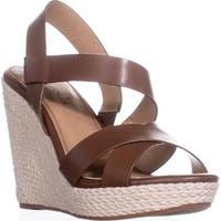 Splendid Dallis Espadrille Wedge Sandals, Cognac - 9.5 us