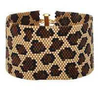 Leopard Print Peyote Bracelet - Exclusive Beadaholique Jewelry Kit