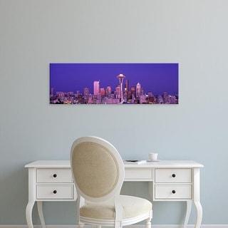 Easy Art Prints Panoramic Images's 'USA, Washington, Seattle, night' Premium Canvas Art
