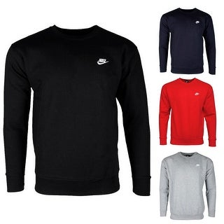 Link to Nike Men's Athletic Wear Embroidered Logo Club Crew Neck Gym Active Sweatshirt Similar Items in Athletic Clothing
