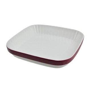 KitchenAid Red and White 2.1 Quart Ceramic Au Gratin Baking Dish