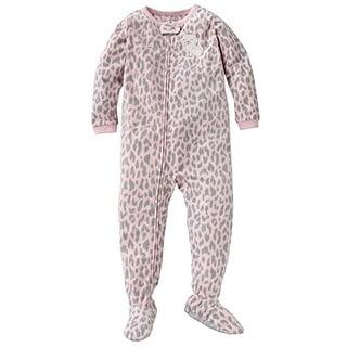 Carter's Little Girls' 1-piece Micro-fleece Pajamas (Youth 5, Leopard Kitty)