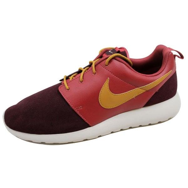 Nike Men's Rosherun Premium Cedar/Bronzine-Deep Burgundy 525234-601 Size 12.5