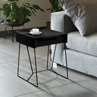 Link to Furniture of America Omer Mid-century Modern Metal 1-drawer Side Table Similar Items in Living Room Furniture