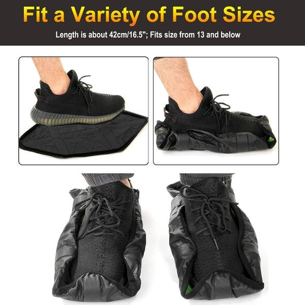 1 Pair Reusable Unisex Automatic Sock Step in Sock One Step Hand Free Shoe Cover