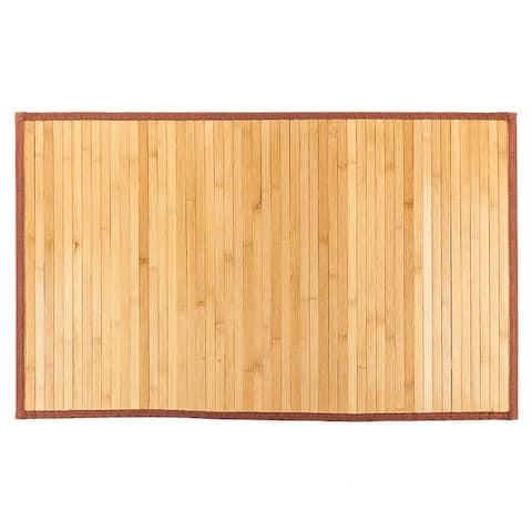 5' x 8' Waterproof Natural Bamboo Floor Rug Non-Skid - 5' x 8'/Surplus
