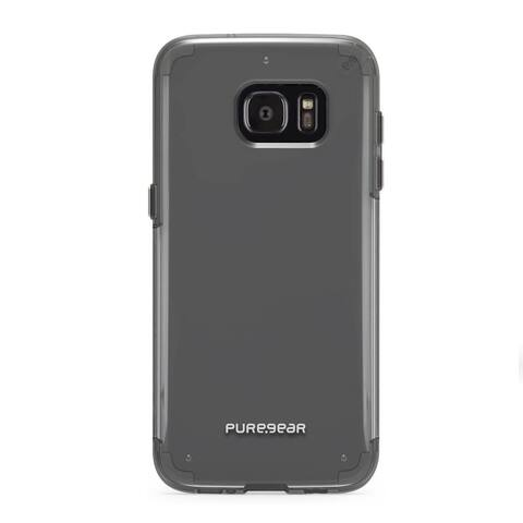 PureGear Slim Shell PRO for Samsung Galaxy S7 edge - Clear/Light Gray