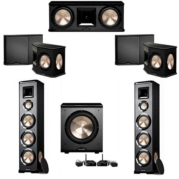BIC Acoustech 5 1 System with 2 PL-980 Speakers, PL-200 Wireless Subwoofer