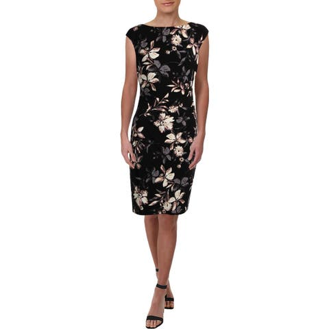Lauren Ralph Lauren Womens Cocktail Dress Jersey Floral Print