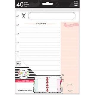 Happy Planner Medium Fill Paper 40/Pkg-Recipe