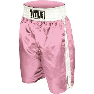 Title Professional Boxing Trunks - Pink/White