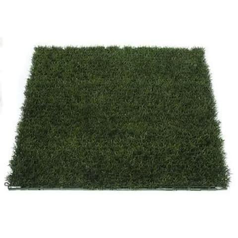 Autograph Foliages A-84120 - 40 X 40 Inch Plastic Grass Mat - Green