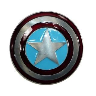 CTM® Marvel Avengers Captain America Shield Belt Buckle - Silver - One Size