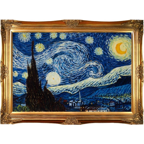 Starry Night by Vincent Van Gogh Framed Hand Painted Oil on Canvas