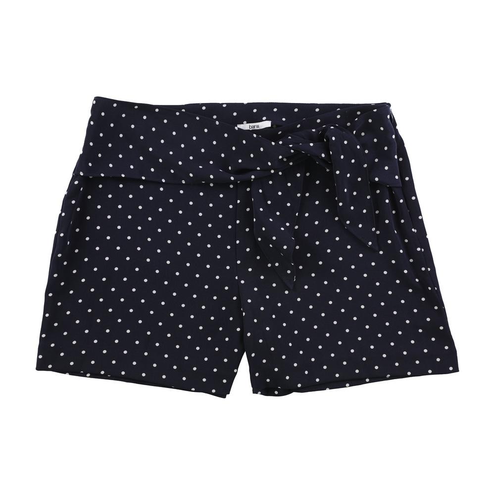 Bar Iii Womens Tie Waist Casual Walking Shorts